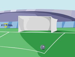Soccer Goal Box colorful vector illustration