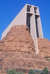 Holy Cross Catholic Chapel, inspired by Frank L. Wright in Sedona Arizona