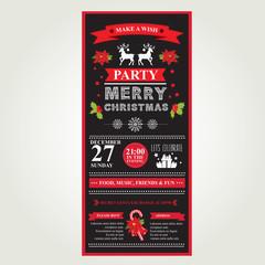 Poster Merry Christmas.Vector illustration.