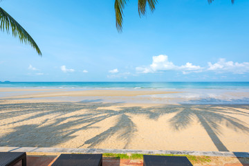 Fototapete - Beautiful white  sand beach at Koh Chang island ,Thailand