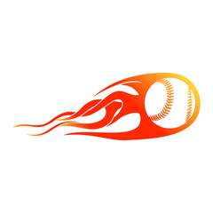 Blast Baseball Flames