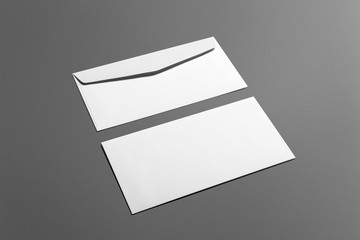 Blank stationery branding set isolated on grey background, place with your design