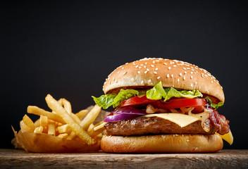 Fototapeta fresh tasty burger obraz