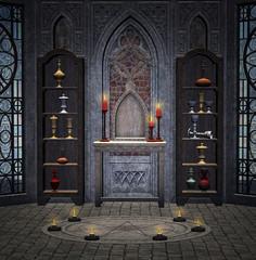 Dark medieval room
