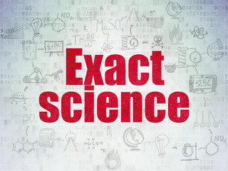 Science concept: Exact Science on Digital Paper background