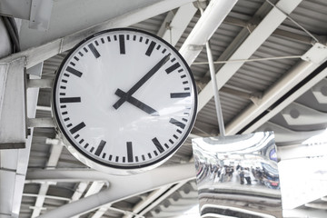 public clock at metro station