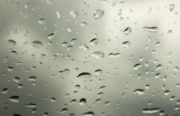 Drops on gray background