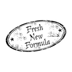 Fresh new formula grunge rubber stamp