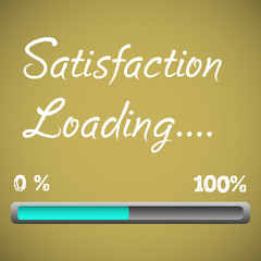 Satisfaction loading bar