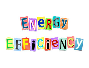 Energy efficiency concept.