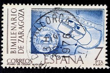 Timbre d'Espagne - Zaragoza