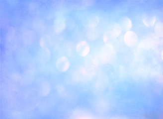 Blue Festive Christmas elegant abstract background with bokeh li