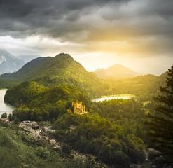 Foto auf Gartenposter Gebirge Castle Hohenschwangau in Germany