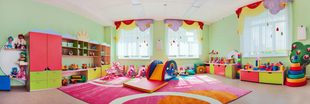 Panorama children's playroom.