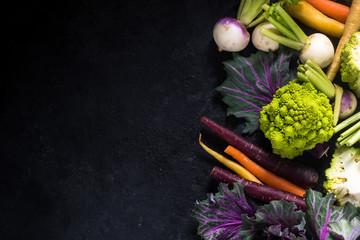 market fresh vegetables border background