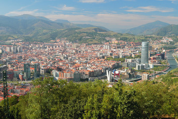View of city from above. Bilbao, Spain