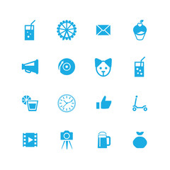 birthday icons universal set