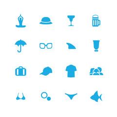 beach icons universal set