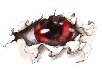 Fotobehang Schilderingen mystic Eye