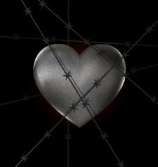 locked stone heart