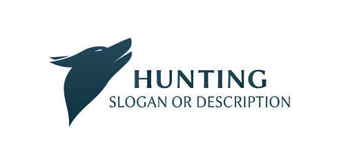 Logo of Hunting Dog - Isolated Illustration