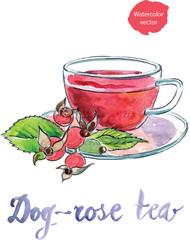 Watercolor briar tea