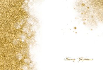 Christmas background with golden glitter