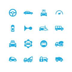 car icons universal set