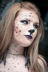 Catwoman. Makeup for Halloween