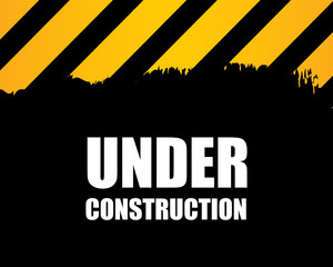 under construction - vector background