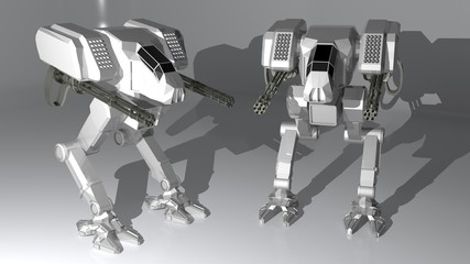 White guardian robots