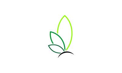 green leaf beauty business logo