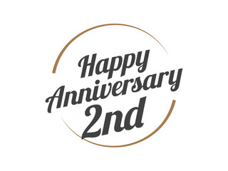 2 Happy Anniversary Logo