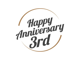 3 Happy Anniversary Logo