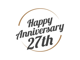 27 Happy Anniversary Logo