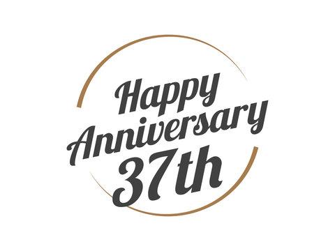 37 Happy Anniversary Logo