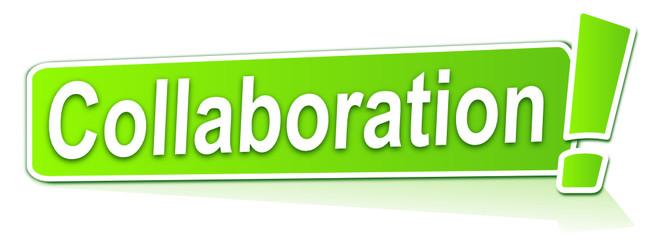 collaboration sur étiquette verte