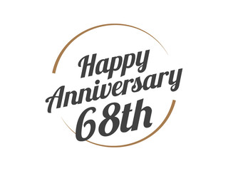 68 Happy Anniversary Logo