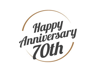 70 Happy Anniversary Logo