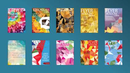 Set of Vector Poster Templates Brochure Design Technologies, App