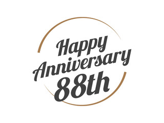 88 Happy Anniversary Logo