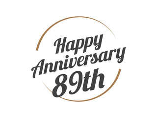 89 Happy Anniversary Logo
