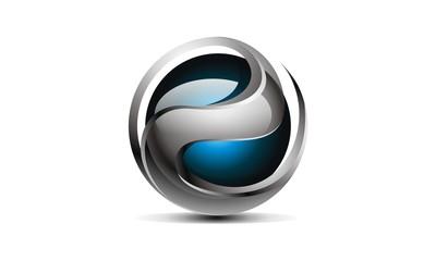 3D - e Modern Logo tech