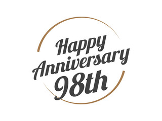 98 Happy Anniversary Logo