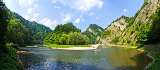 Printed kitchen splashbacks River Dunajec river in Pieniny mountains, Poland
