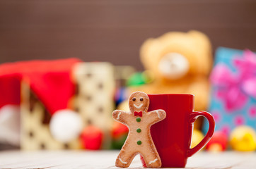 Cup with gingerbread man