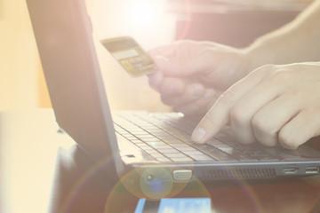 Laptop credit card payment
