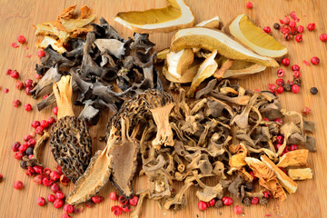 Various dried mushrooms