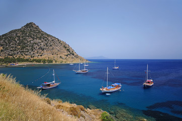 Views from famous tourism city Bodrum Turkey