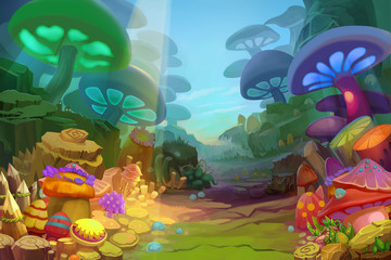 Mushroom Forest - Scene Design